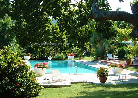 ... is the sparkling pool that invites memorable hours under the sun, sunset or stars ...