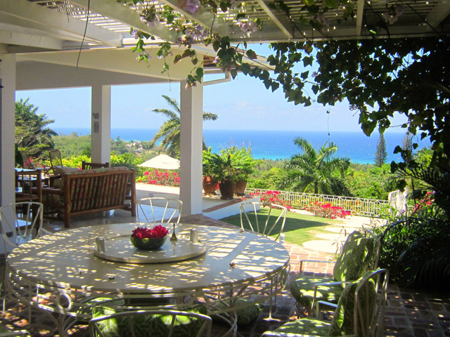 or in shade, or even at the poolside umbrella table.  Wherever guests choose to be for their meals ...