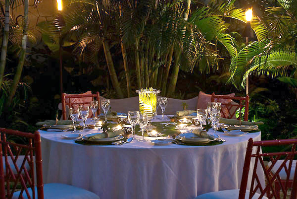 ... or dine in the garden.