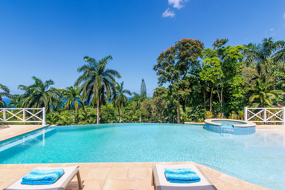 Soak in the sun and mellow out in the mid-pool Jacuzzi.