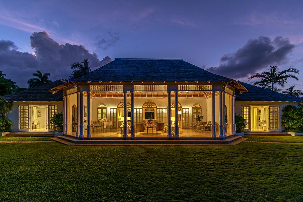 Garden view of the villa