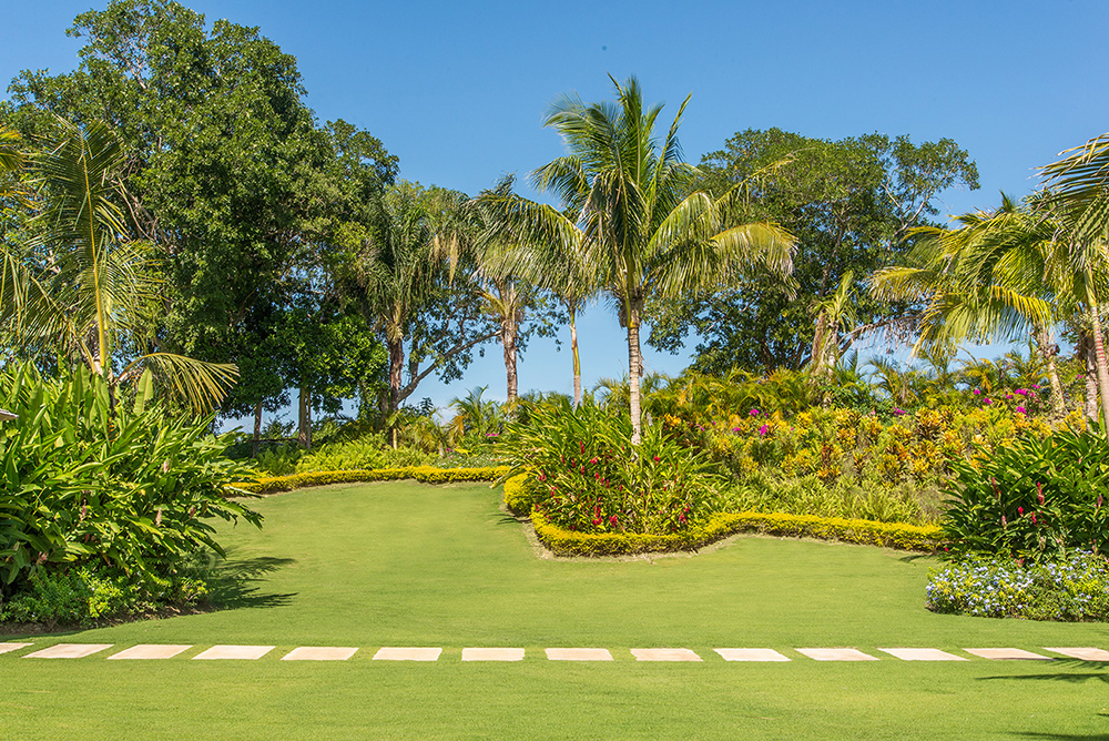 On three private acres, the lush grounds invite youngsters to romp to their hearts' content ...