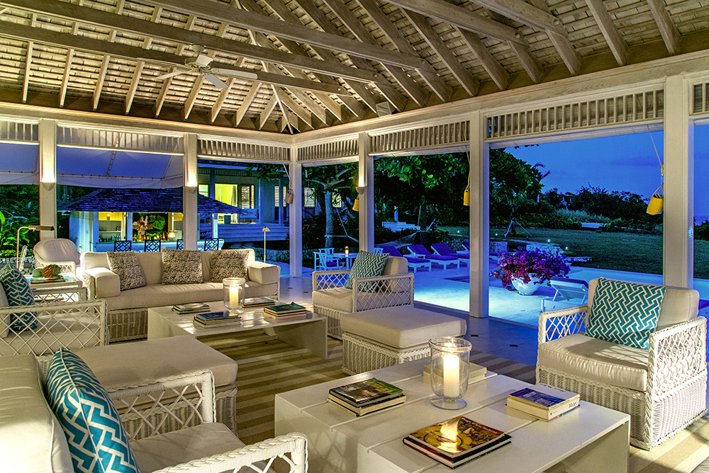 The heart of the house is the extraordinarily large furnished verandah ... as comfortable as it is stylish.