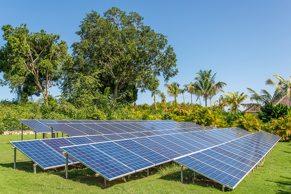 The entire villa is powered by solar energy.