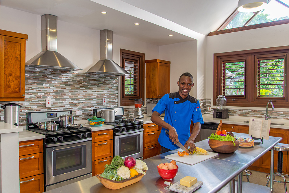 Waken in the morning to the aroma of fresh-baked croissants and breads as Akeema prepares tropical fruits and breakfasts-to-order in his state-of-the-art kitchen ...