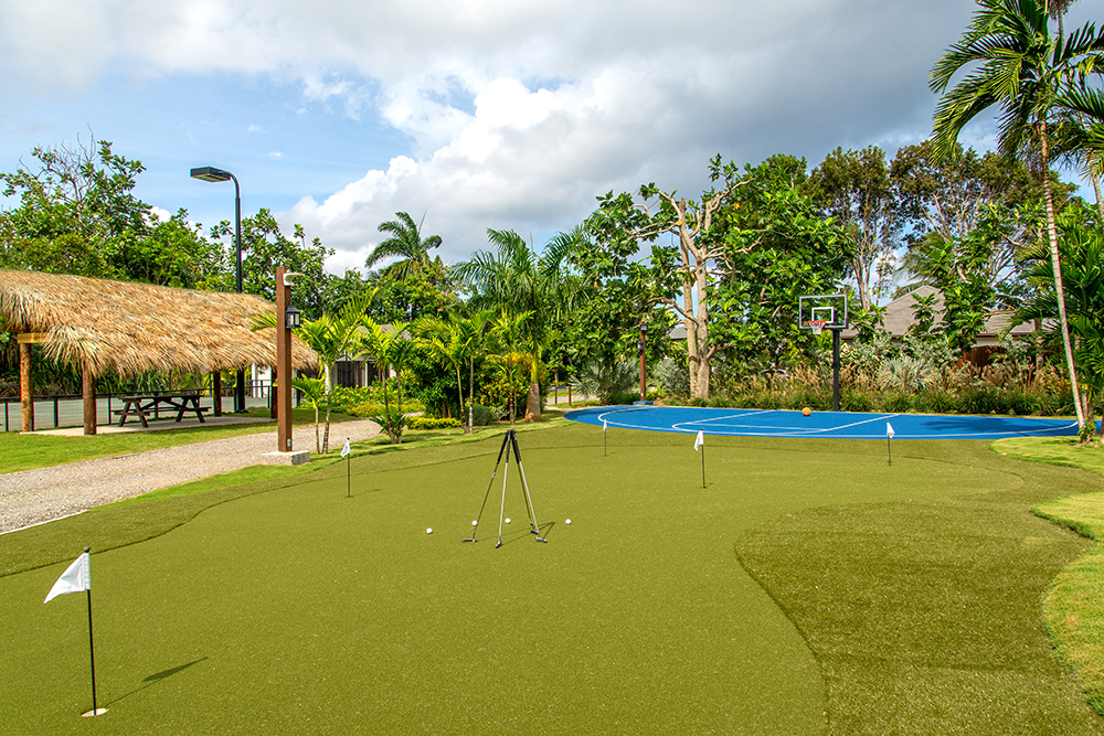 Five-Hole Putting Green with Sand Bunker