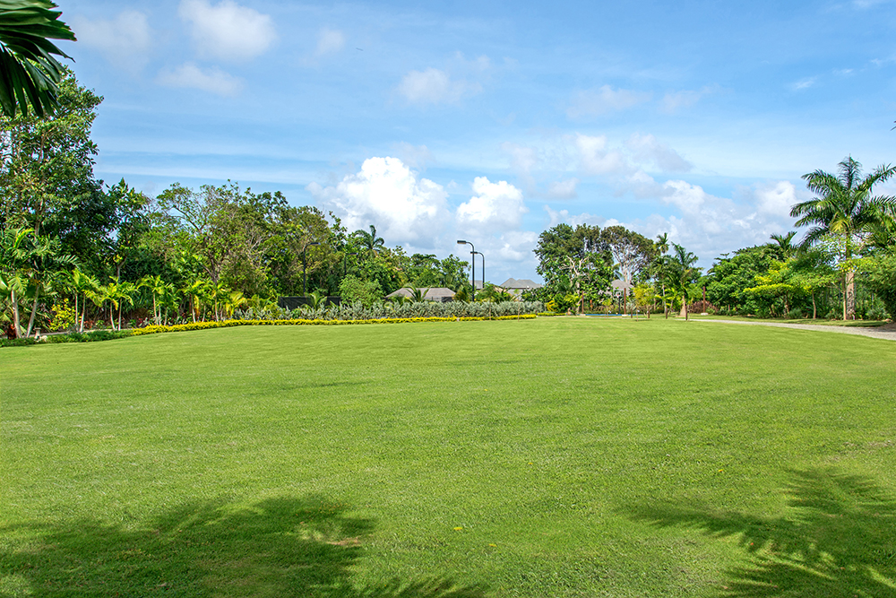 Enjoy the spacious lawn ...