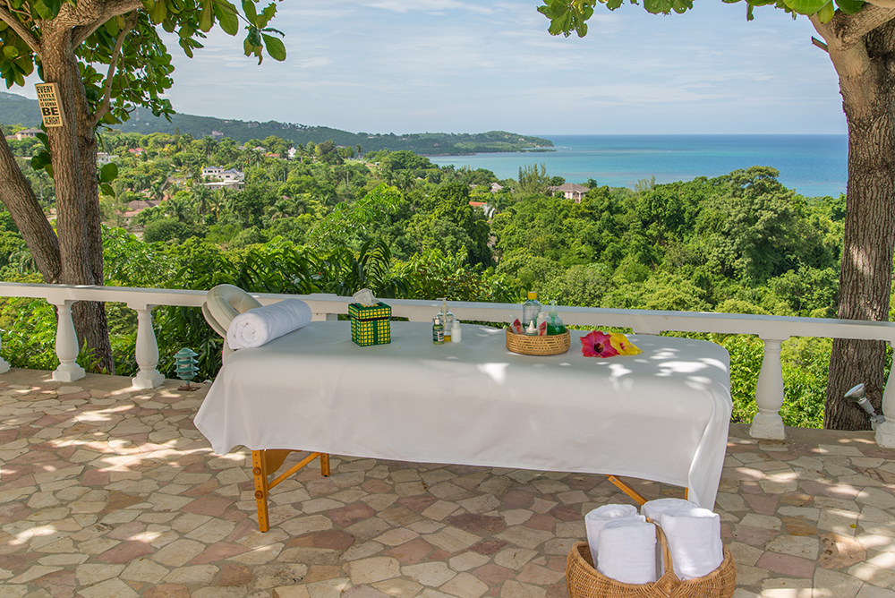 ... picture yourself here.  (Don't get up.  The masseuses come to the villa.)