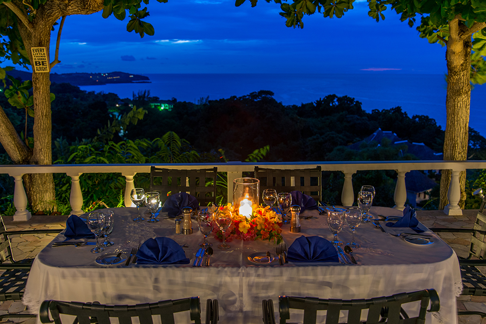 ... and candlelight dinners under the stars ...  you will treasure and remember forever the good Chef Benford.