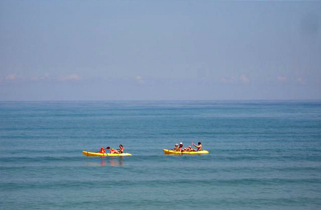 The gentle surf most months of the year makes for easy paddling and play time afloat for the whole family ...