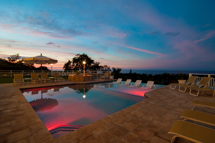 Its heated pool is among the most beautiful in Jamaica, featuring a unique shallow section for loungers and youngsters.