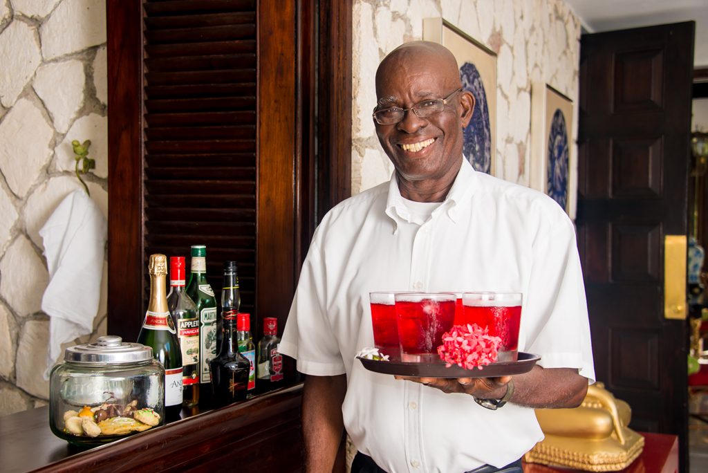 FOOD and DRINK! Everyone craves the extraordinary food and service that come with a villa vacation.  Your arrival starts with a welcome drink offered by longtime butler, Rodrick.  Many more