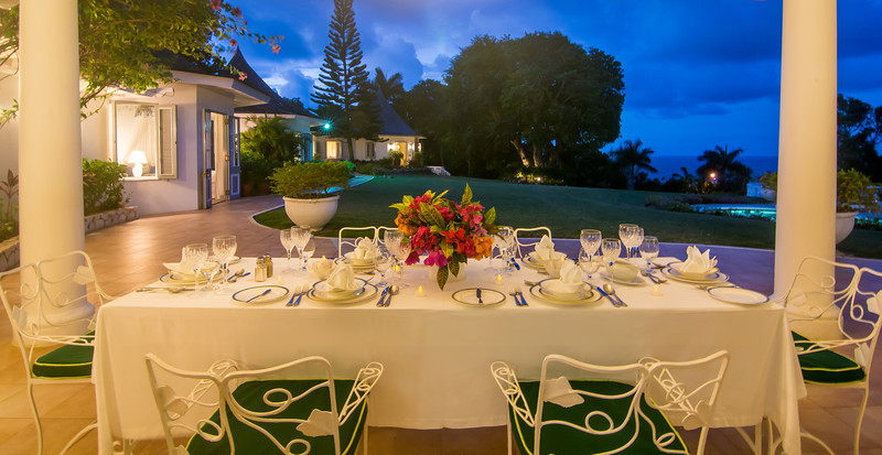 ... where memorable meals prepared just for you are served by your butler.