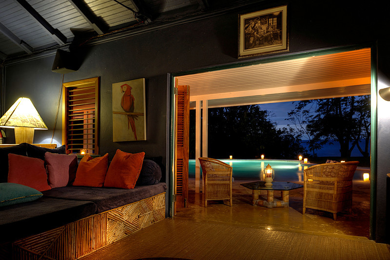 Complementing the main villa is the one-of-a-kind JAMES BOND MEDIA ROOM. Its 64
