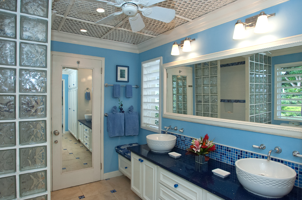 Each unique en-suite bathroom has been custom made specially for Following Seas by a local artisan.  Crisp, clean, brightly lit ...