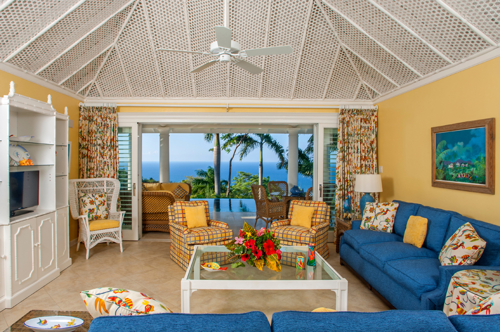 ... where the view from living room and both bedrooms stretches to the blue horizon.