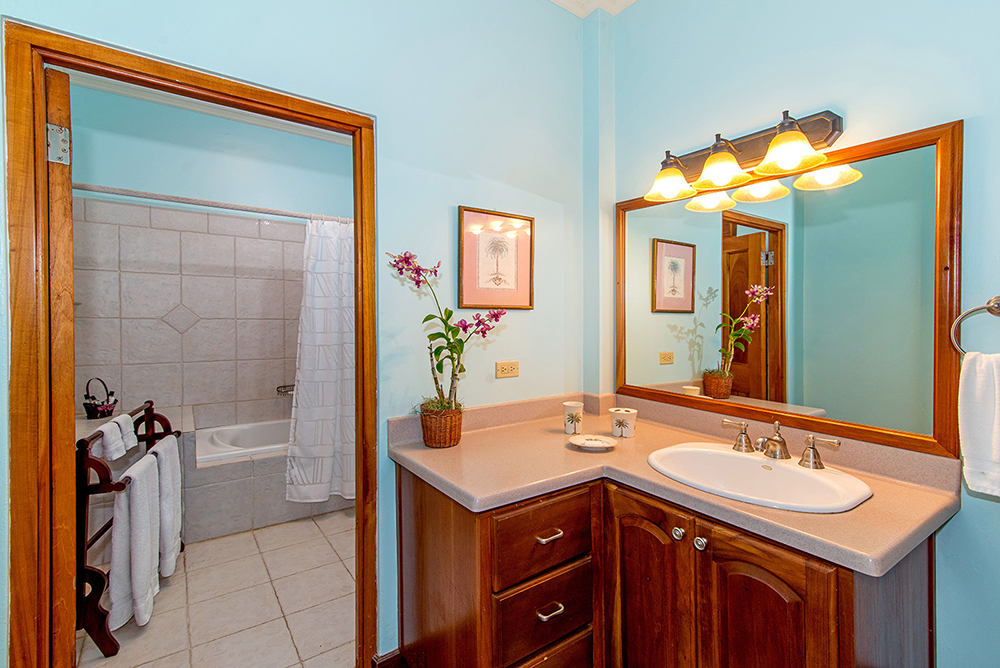 en-suite bathroom with shower/tub combo
