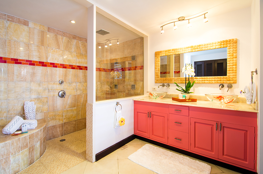 Bright airy bathroom.