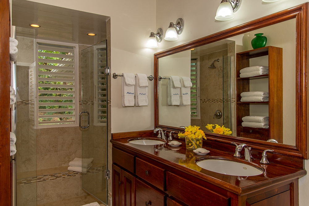 Each of the three upstairs bedrooms has its own en-suite bathroom and walk-in shower.