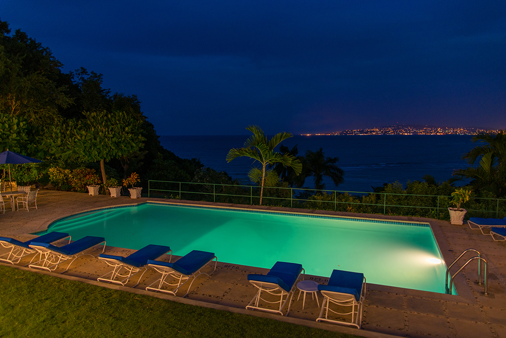 Tarry by the nighttime pool to seize the legendary view and imprint it into your dreams.