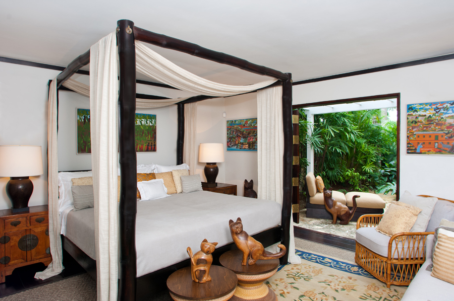 BEDROOM FOUR is down a stairway to the lower level, very privately located, with kingsize bed ...