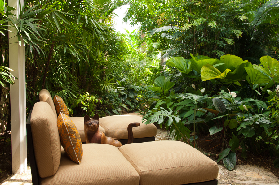 ... and its own tropical sitting area.
