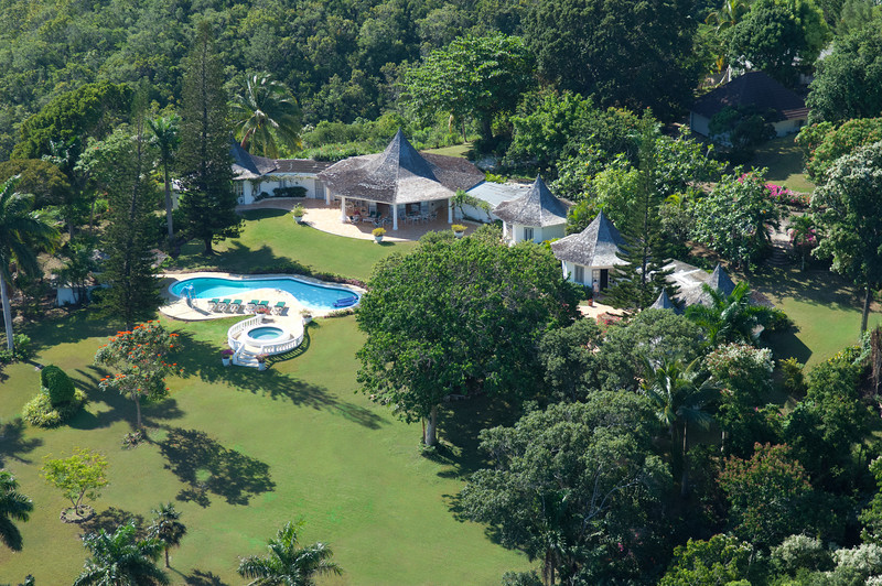 PAVILION is a deluxe five-bedroom private villa on four acres ... with magnificent views of the Caribbean Sea to the north and the lush green mountains to the south. Five minutes from the fro