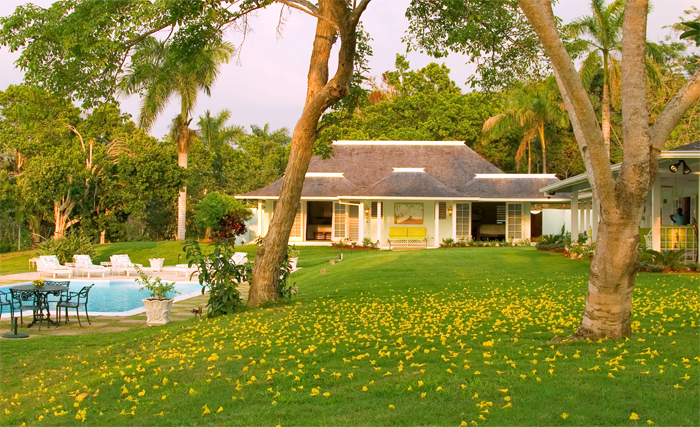 Grounds are adorned by Royal Palms and trees bearing breadfruit, mango, naseberry, pimento and wild orchids.