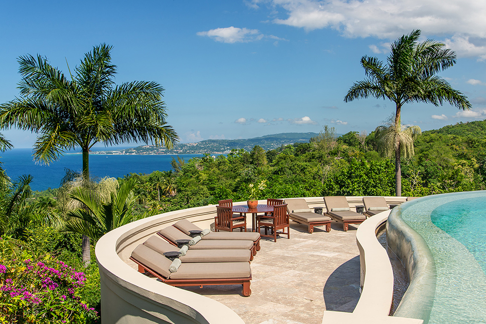 Pool Sundeck with view of Montego Bay