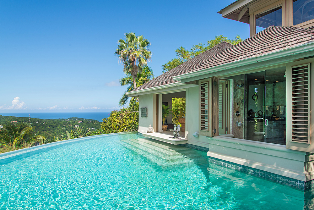 Owner's Villa Shower and Pool