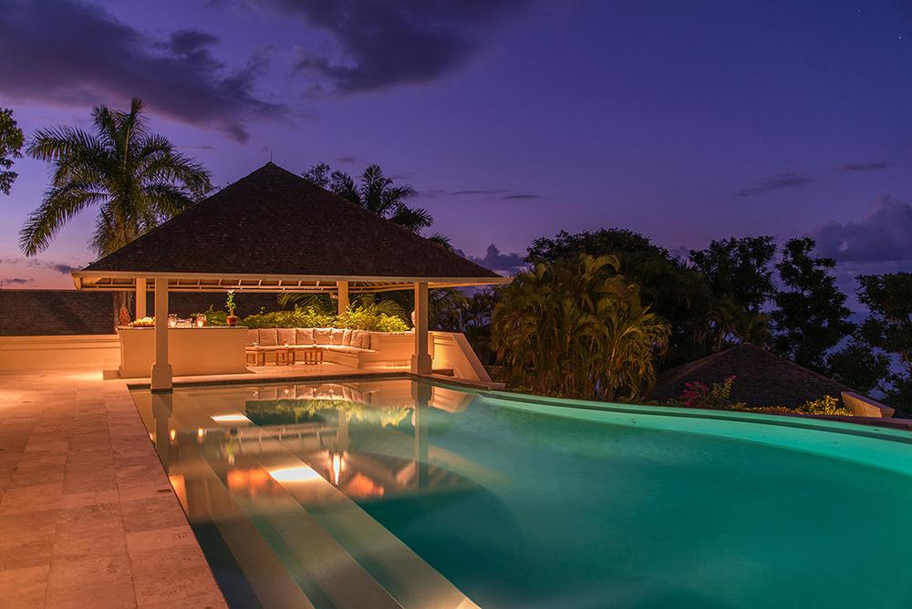 Pool Bar at dusk