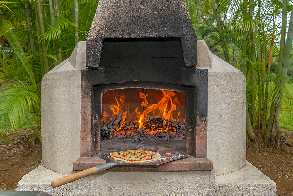 A bona fide pizza oven means pizza for lunch!