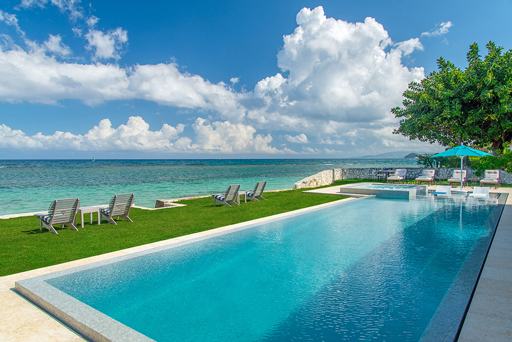 The pool looking towards Montego Bay.
