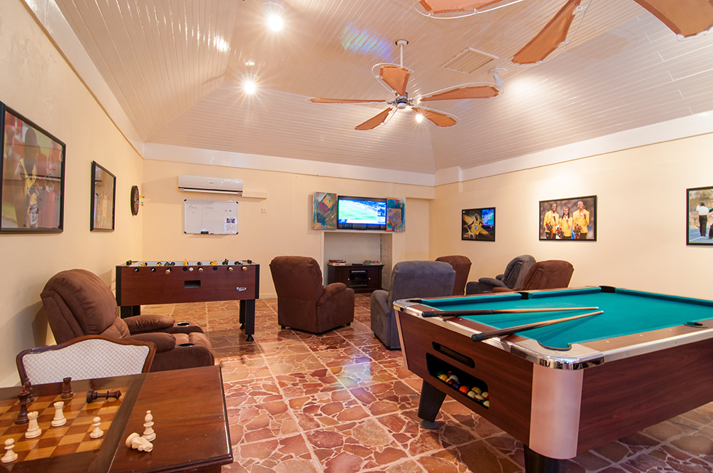 Teens (and parents) flock to the Usain Bolt Games Room, also a few steps from Camelot, for ping pong and pool tables, foosball, chess, air hockey and sports TV.