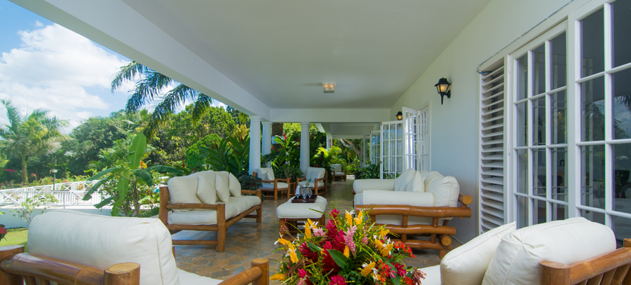 Fronting the entire length of the home is a very comfortable verandah.